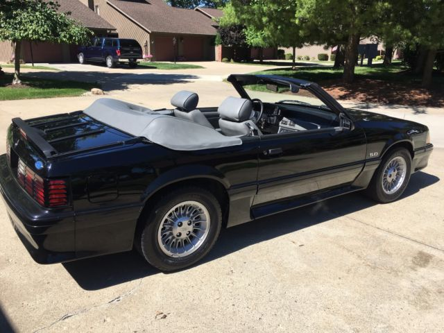 1987 ford mustang gt convertible automatic 34k original miles new top 95 stock classic ford. Black Bedroom Furniture Sets. Home Design Ideas