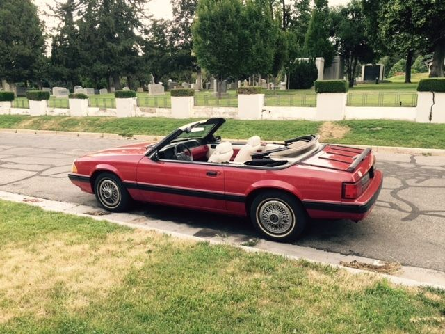 1987 Ford Mustang Lx Convertible 2 Door 3l With Only 54 000 Original Miles