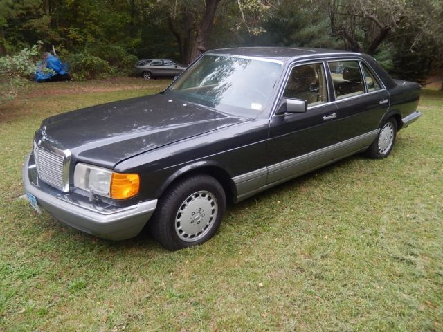 1987 mercedes benz 300sdl turbo diesel black with tan for 1987 mercedes benz 300sdl