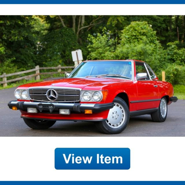 1987 mercedes benz 560sl convertible hard soft top for Best looking mercedes benz models
