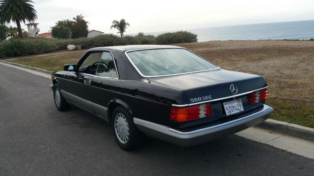1987 Mercedes Sec 560 320 500 Sl W126 Black Coupe