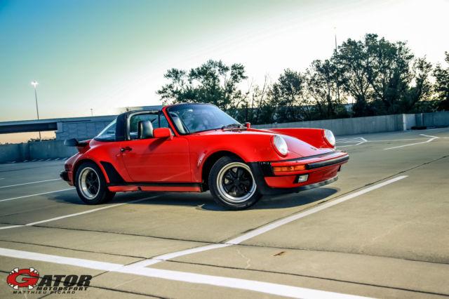 1987 Porsche 911 Carrera Turbo 930 Targa Guards Red