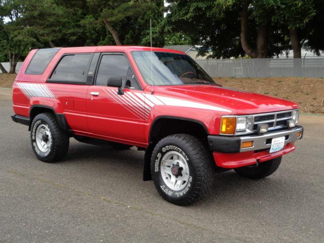 1987 Toyota 4runner Sr5 22re 4x4 Hilux Surf Trd 1988 1989