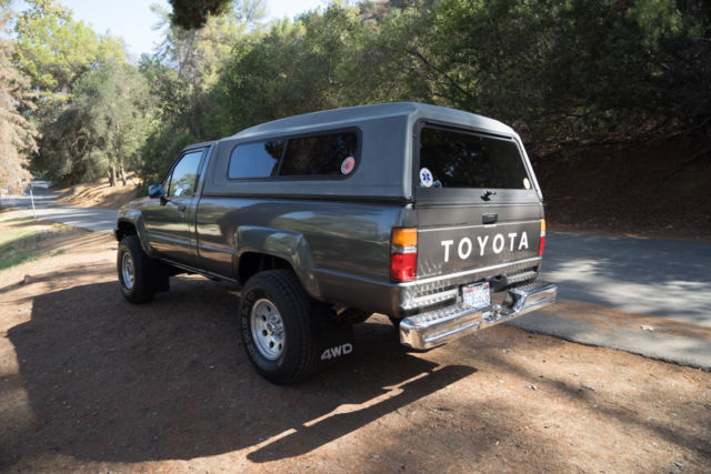 1987 toyota 4x4 64k original miles long bed manual two owner west coast truck classic toyota. Black Bedroom Furniture Sets. Home Design Ideas