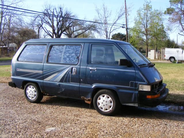 1987 toyota cargo van blue with stripes not running single owner classic toyota van 1987 for sale. Black Bedroom Furniture Sets. Home Design Ideas