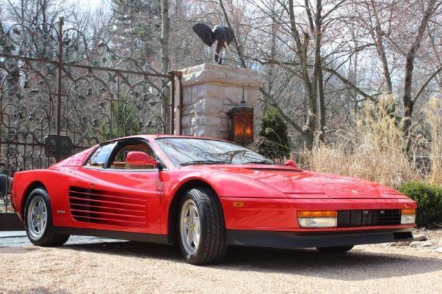 1988 12 Ferrari Testarossa 971 Miles Classic Redtan Recent