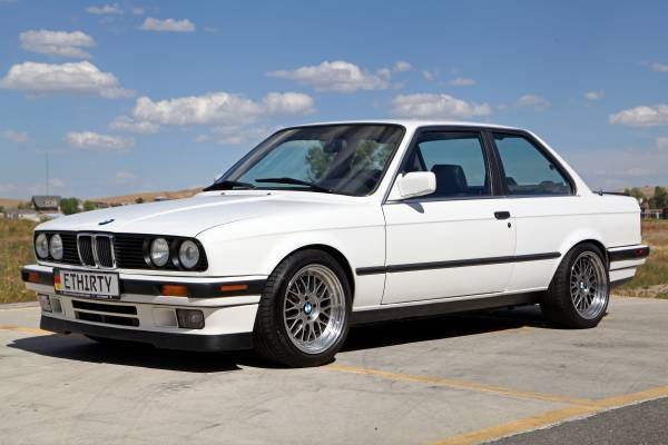 1988 Bmw E30 325is Alpine White Black Leather Plastic