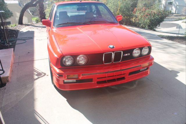 1988 bmw e30 m3 henna red rare color california car from day one classic bmw m3 1988 for sale. Black Bedroom Furniture Sets. Home Design Ideas