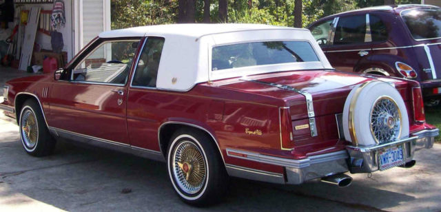 1988 Cadillac Coupe Deville Red With White Carriage Top