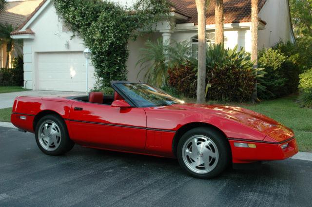 1988 Corvette Convertible Spectacular 6k Paint Job 100