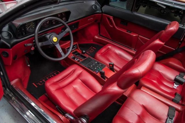 1988 ferrari mondial cabriolet 3 2 desirable silver w red interior classic ferrari modial. Black Bedroom Furniture Sets. Home Design Ideas