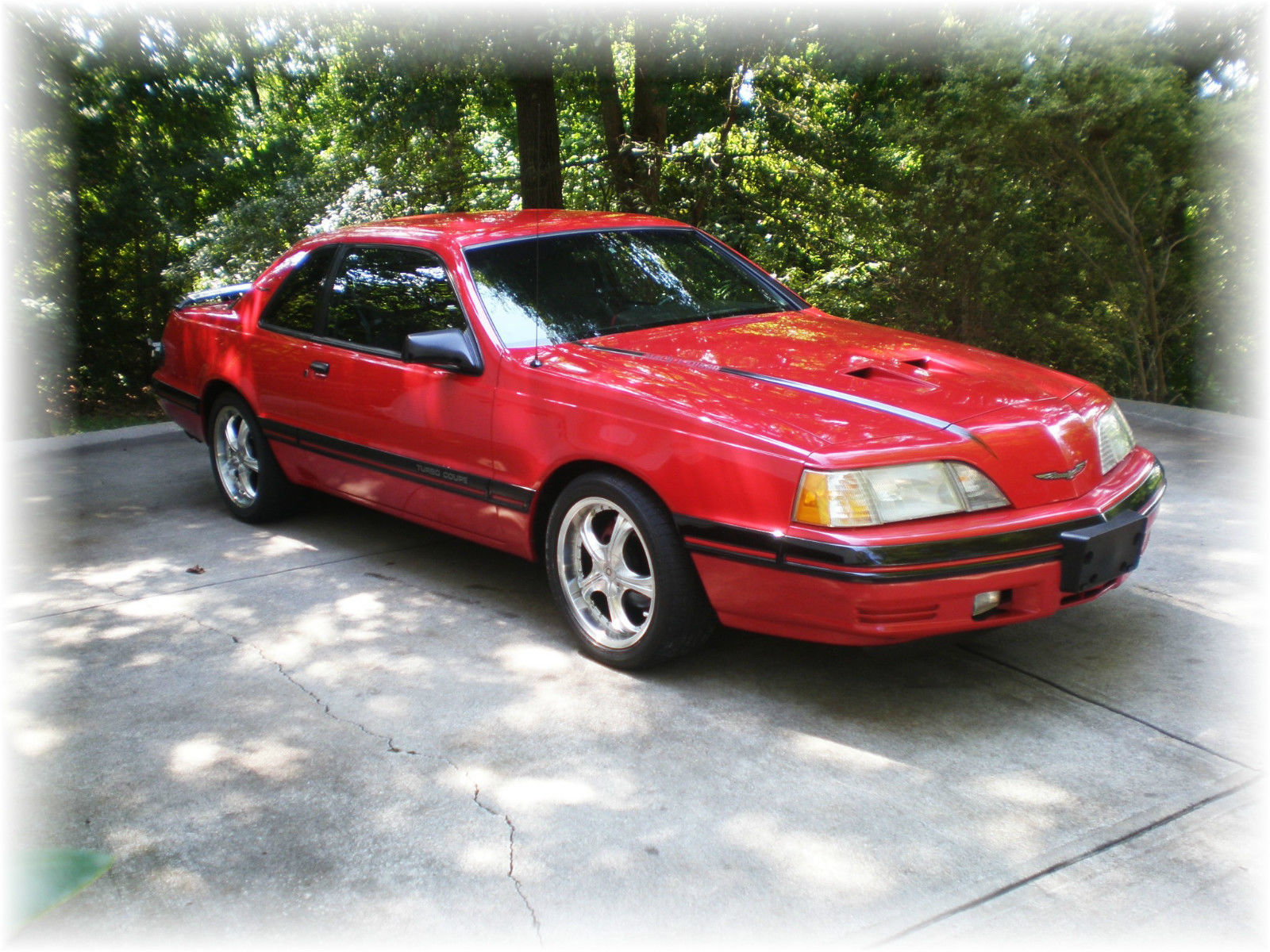 1988 ford thunderbird turbo coupe mach 1 special edition red very rare upgrades classic ford. Black Bedroom Furniture Sets. Home Design Ideas