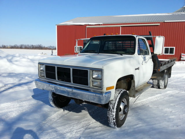 Dually Flatbed For Sale >> 1988 GMC 3500 4x4 Flatbed, Dana 60 Front Axle, 14 Bolt GM Rear, 4 Speed, 350 - Classic GMC ...