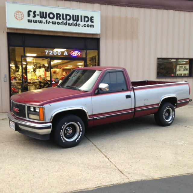 1988 GMC SLE Sierra Pick up Truck 2WD Automatic Long Bed