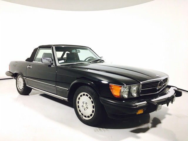 1988 mercedes benz 560 series 560sl black convertible for Mercedes benz 500 convertible