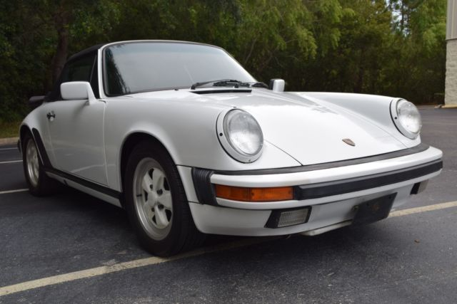 1988 porsche 911 carrera cabriolet g50 grand prix white fuchs classic porsche 911 1988 for sale. Black Bedroom Furniture Sets. Home Design Ideas
