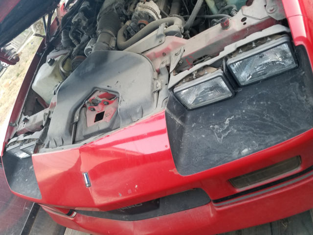 1989 89 Chevy Red Iroc Z 5 7l 350 V8 Automatic Overdrive T
