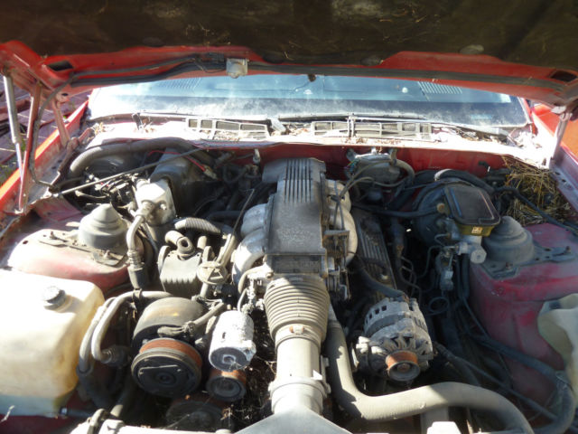 1989 89 CHEVY RED IROC-Z 5.7L 350 V8 AUTOMATIC OVERDRIVE T ...