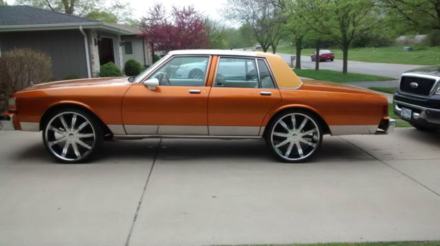 1989 Chevrolet Caprice Burned orange golden candy paint show car