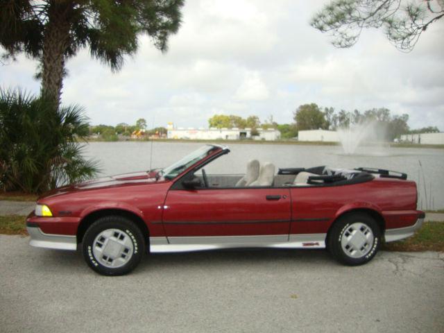 1989 Chevrolet Cavalier Z24 Convertible 2 Door 2 8l Classic