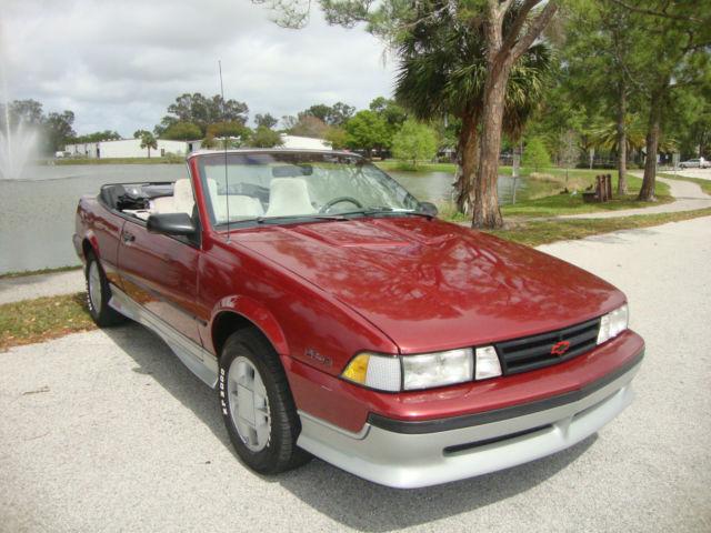 1989 Chevrolet Cavalier Z24 Convertible 2Door 28L  Classic