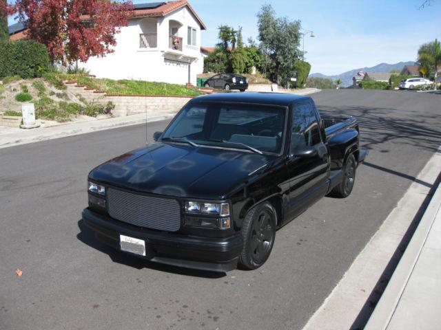1989 Chevrolet C K Pickup 1500 Stepside Short Bed Black Lowerd Chevy