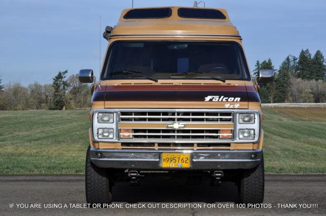 1989 Chevrolet G20 Falcon Intervec 4x4 Motorhome Camper