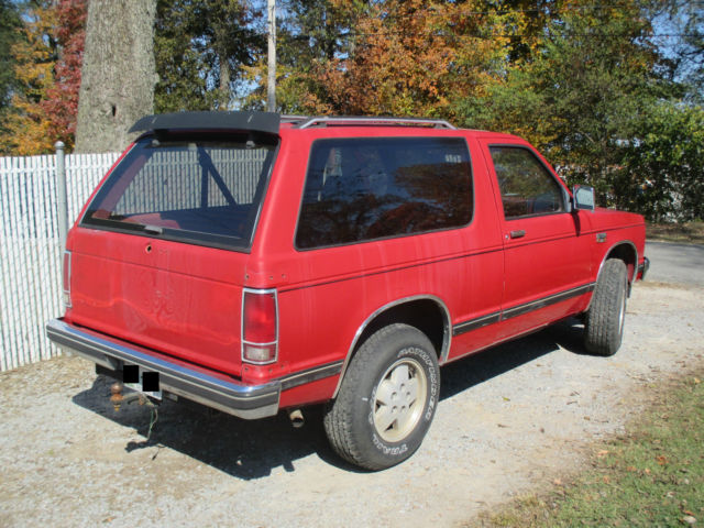 1989 Chevrolet S10 Blazer Base Sport Utility 2-Door 4 3L - Classic