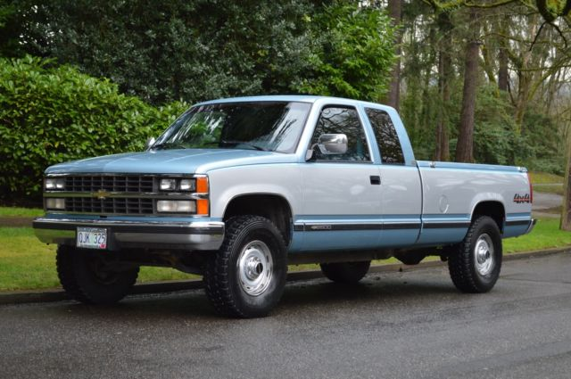 1989 Chevy Silverado K2500 Extended Cab 4x4 Long Bed 5 7