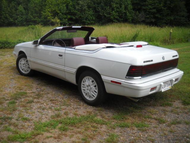 1989 Chrysler Lebaron Convertible Gtc Turbo 5 Speed Manual Classic