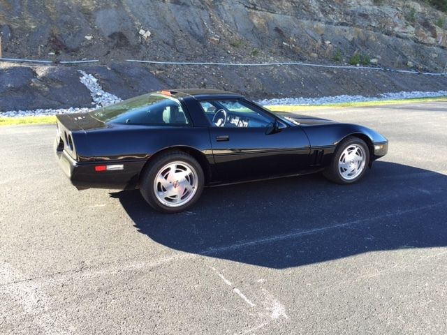 1989 corvette 89 c4 black vette sport coupe tpi tuned port injection stingray classic. Black Bedroom Furniture Sets. Home Design Ideas