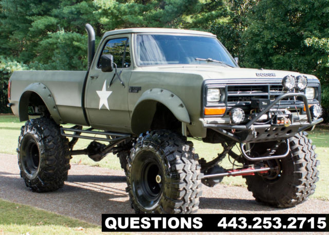 1989 Dodge Ram 2500 Mud Truck Monster Truck Classic