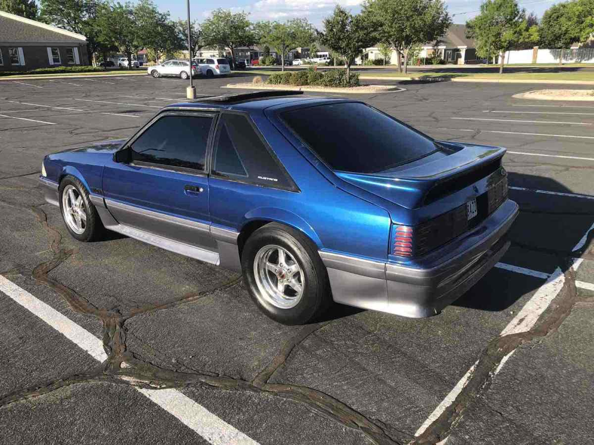 1989 Ford Mustang Hatchback Blue RWD Automatic GT ...
