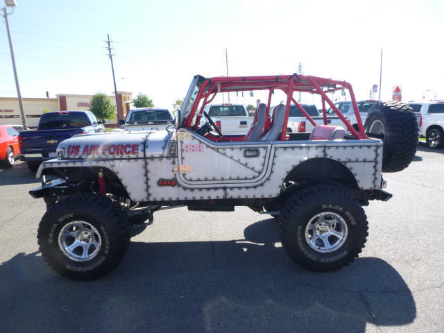 Custom Jeep Wrangler For Sale >> 1989 Jeep Wrangler US Air Force Custom Paint and Body 2-Door 4.2L - Classic Jeep Wrangler 1989 ...