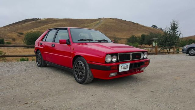1989 lancia delta hf integrale awd turbo 8v red martini very fast rally car classic lancia. Black Bedroom Furniture Sets. Home Design Ideas