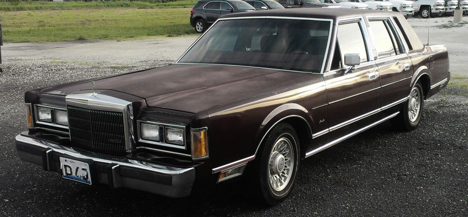 1989 Lincoln Town Car Nice Burgundy Leather Runs Great