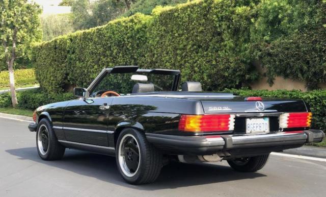 Northern California No Rust: 1989 Mercedes 560 SL Black/Black/Black, California Car, No