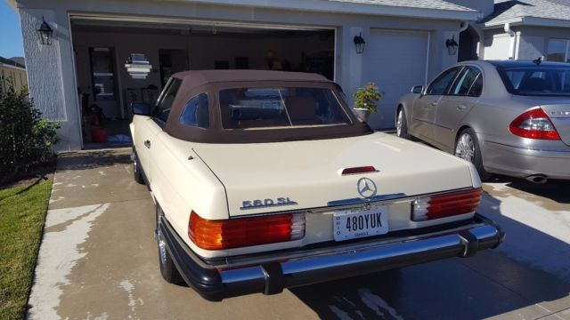 1989 mercedes benz 560sl light ivory palomino lthr