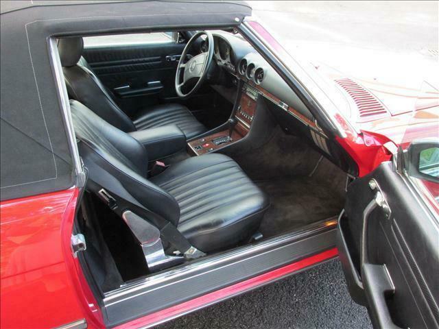 1989 mercedes benz sl class 560sl 67782 miles red. Black Bedroom Furniture Sets. Home Design Ideas
