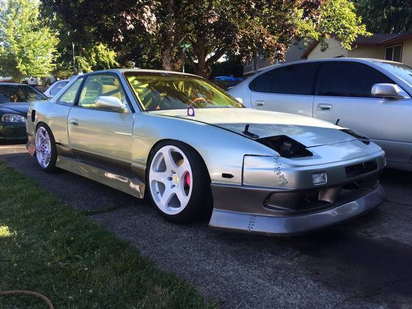 1989 nissan 240sx coupe race chassis drift car seafoam