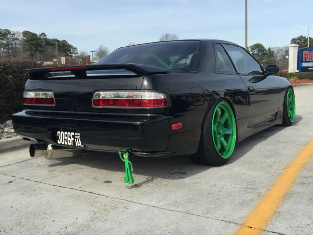 1989 nissan 240sx s13 coupe ka t 500hp jdm black fast stance te37 39 s volk classic nissan. Black Bedroom Furniture Sets. Home Design Ideas