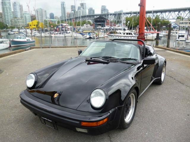 1989 Porsche Speedster Rare Triple Black Widebody