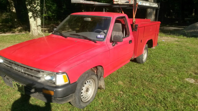 1989 toyota pickup with reading aluminum utility bed 22re classic toyota other 1989 for sale. Black Bedroom Furniture Sets. Home Design Ideas