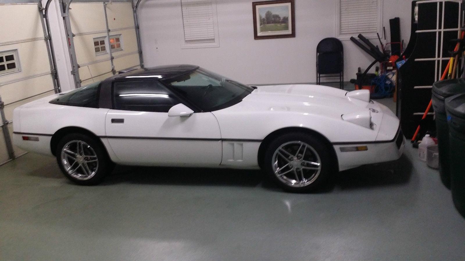 1990 1989 1991 Chevrolet Corvette White targa top black