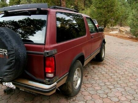 1990 Chevrolet S10 Blazer 4x4 Sport Utility 2-Door 4 3 Liter