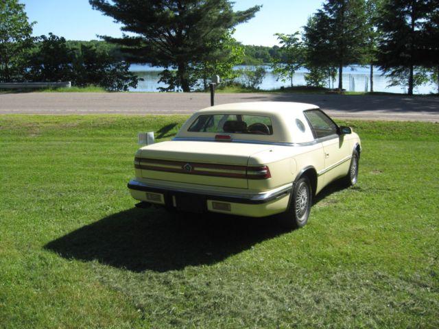 1990 Chrysler Tc Made By Maserati Convertible