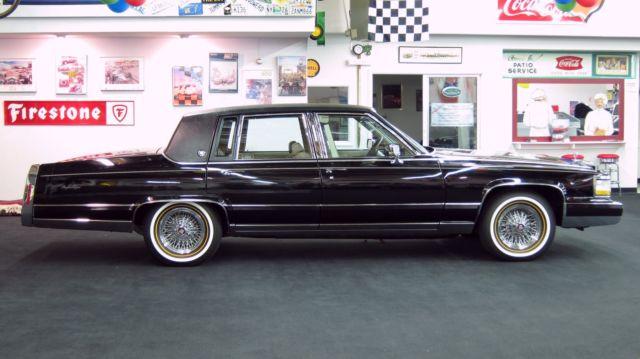 1990 clean cadillac brougham d 39 elegance black raven 5 7l. Black Bedroom Furniture Sets. Home Design Ideas