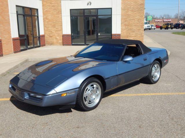 1990 Corvette Convertible ---Low Miles 25,524---Rare Steel