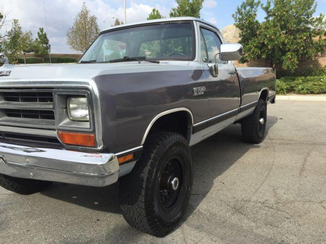 1990 dodge ram w250 cummins turbo diesel 4x4 automatic 188k miles ca rust free classic dodge. Black Bedroom Furniture Sets. Home Design Ideas