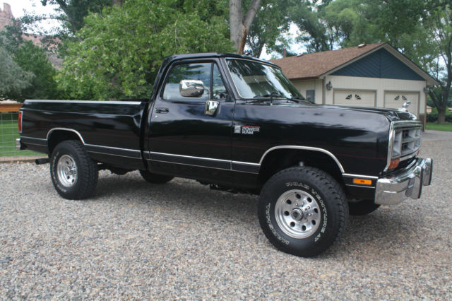 1990 Dodge W 350 Regular Cab LE Longbed SRW 4x4 5.9 12 ...
